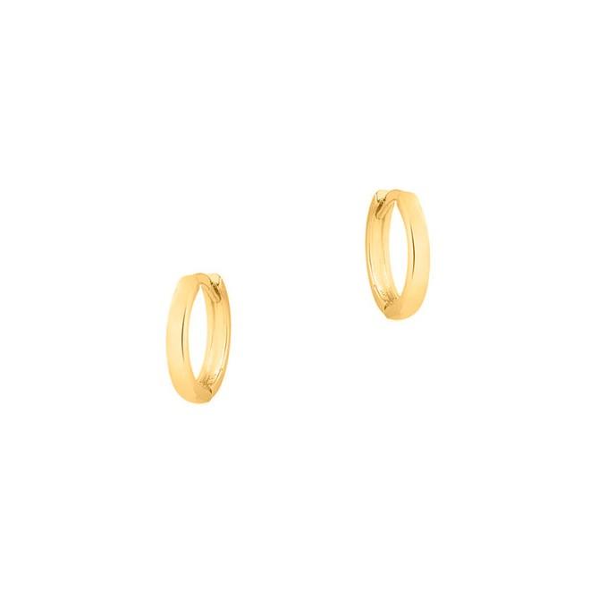 Brinco Argola Lisa Pequena Folheado a Ouro 18k - New Bijoux 2592272097