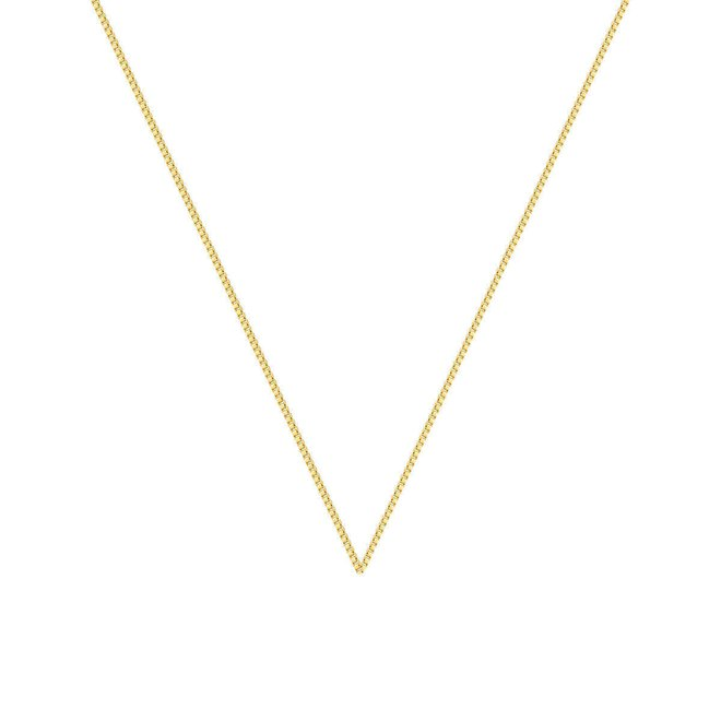 Corrente Veneziana Fina 40cm em Ouro 18k New Gold - New Bijoux d84f35922d