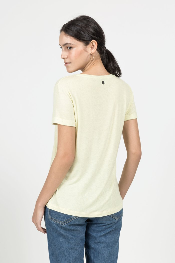 T-SHIRT GOLA CARECA LINHO - LEMONADE