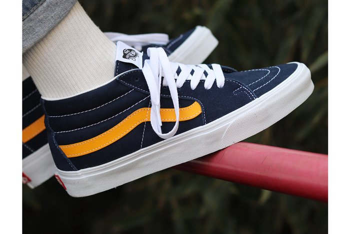 TÊNIS VANS SK8-MID (CLASSICSPORT) DRESS BLUES/SAFFRON
