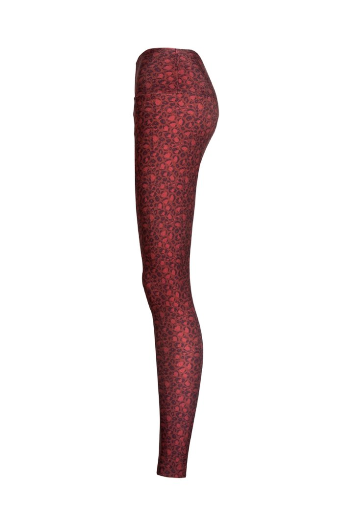 Legging Cós Estampada Onça Red