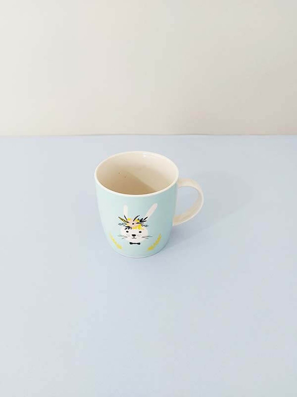 Caneca Porcelana 350ml Rabbit Flower