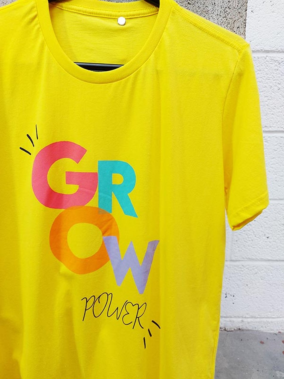 Camiseta Amarela Grow Power