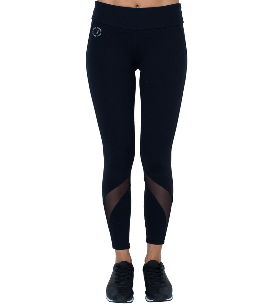Legging Active Black Tulle