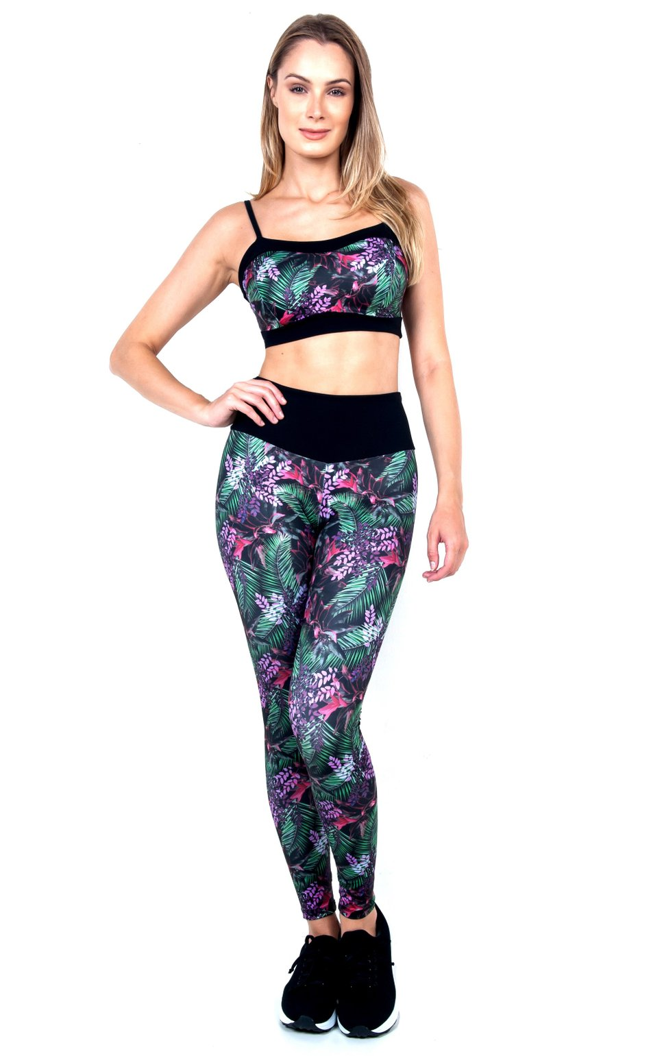 Legging with Sublimação  flowers