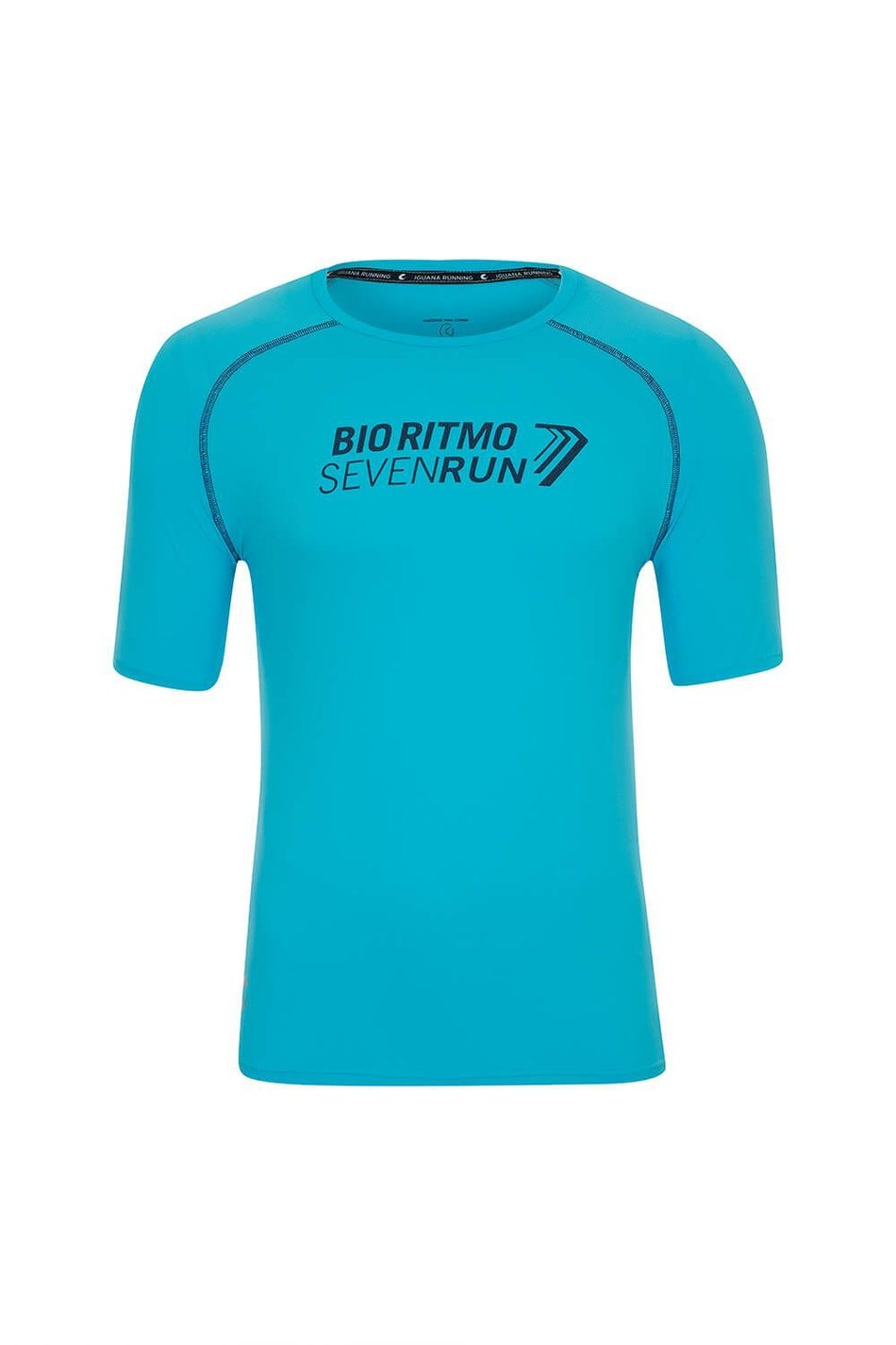 Camiseta Atleta Seven Run 2018 Mc Masc Azul