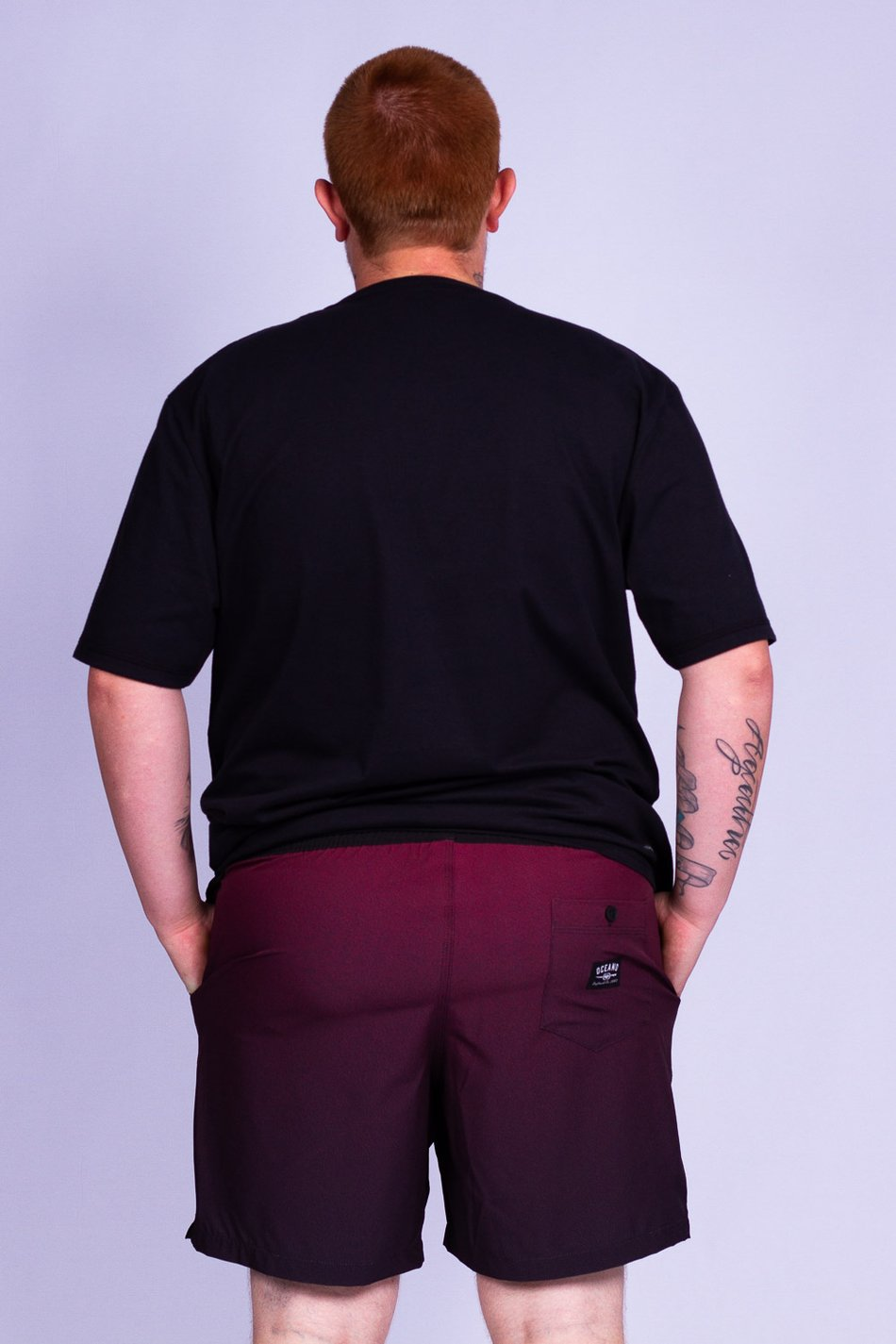 SHORT DEGRADÊ PLUS SIZE PERFORMANCE STRETCH