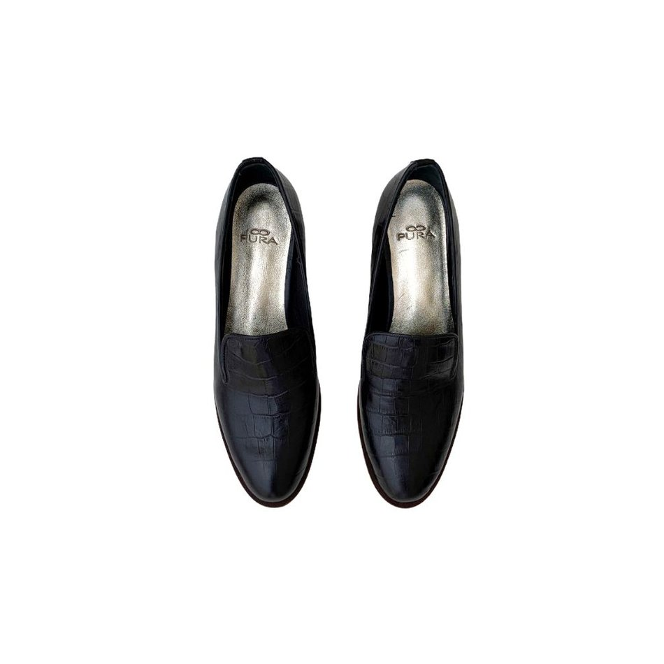 Slipper Liz Croco Preto