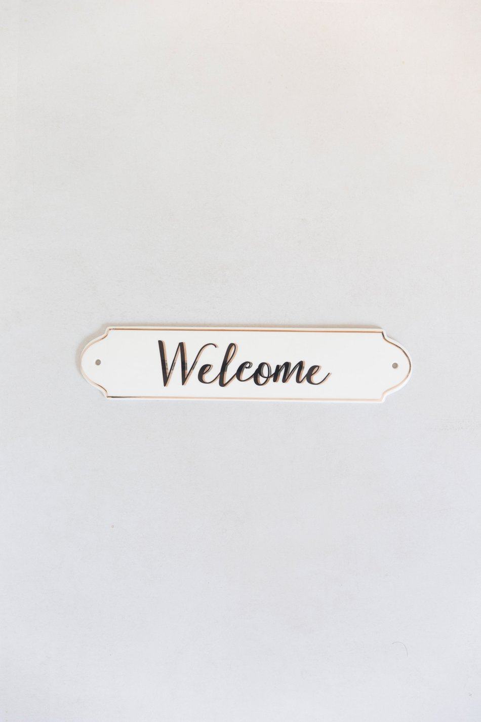 Placa Welcome