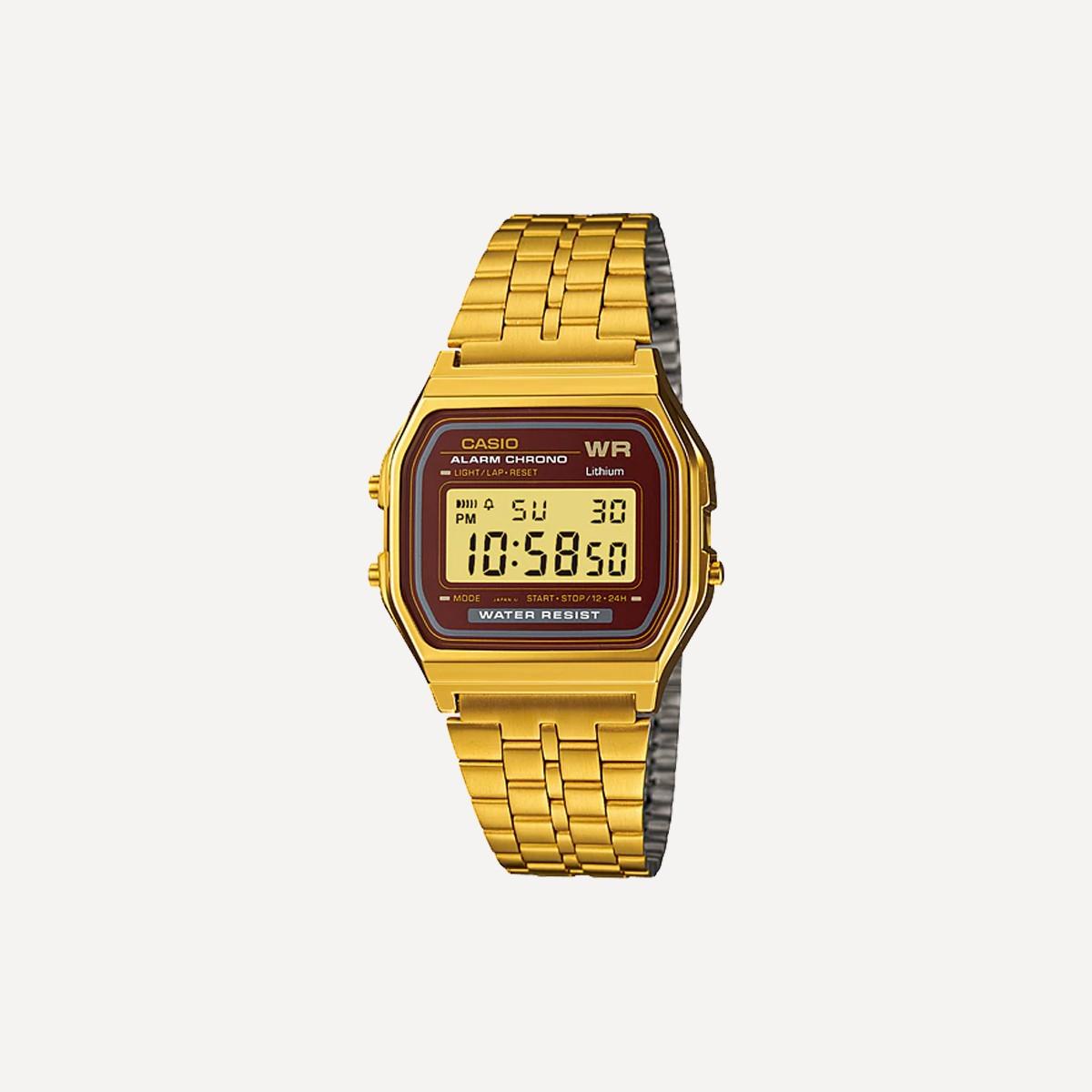 6f414f5a416 Relógio CASIO A159WGEA-5DF Dourado Marrom - Aragäna