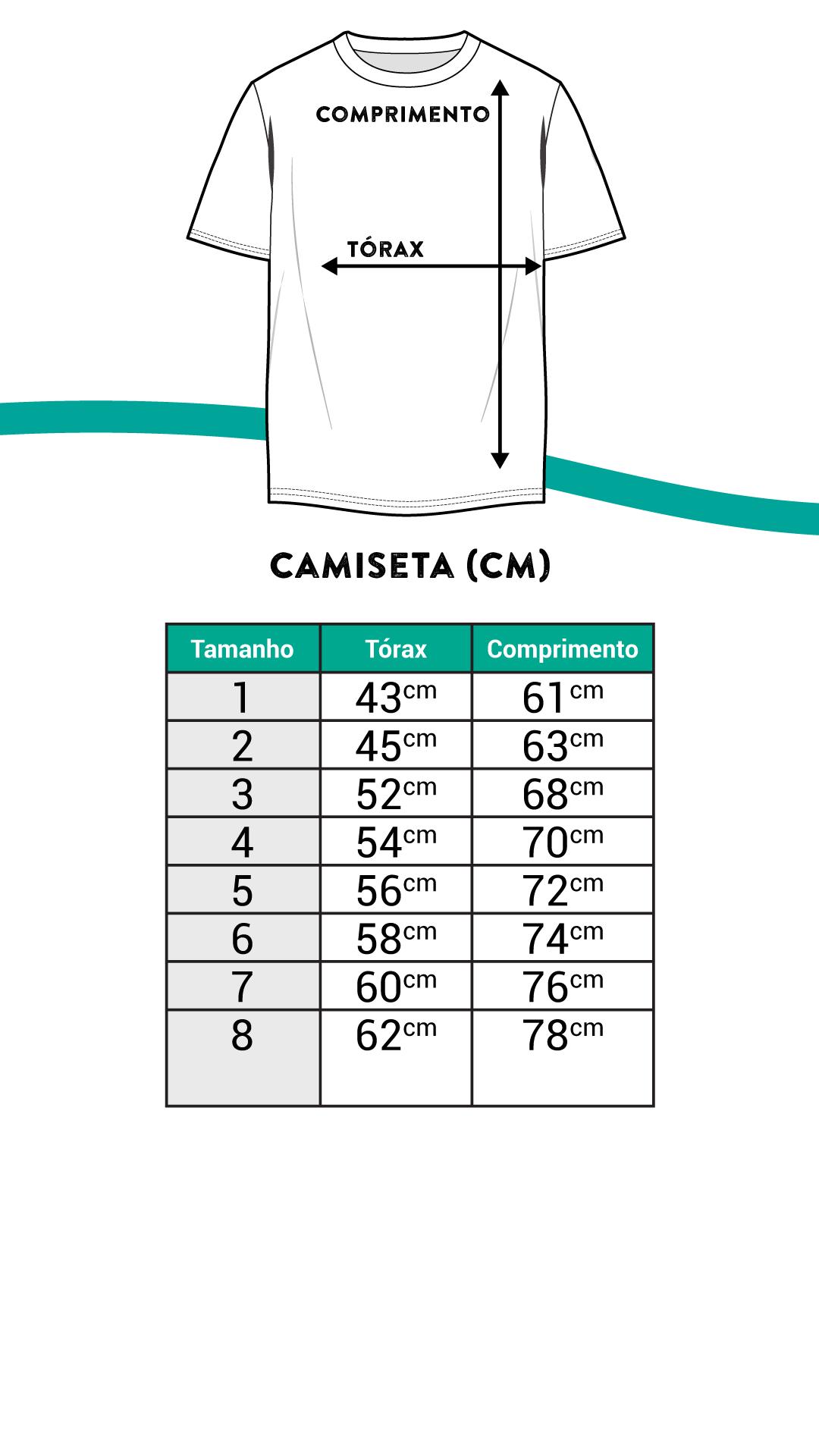 Medidas das Camisas