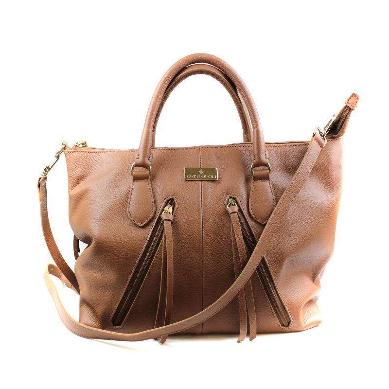 BOLSA CRISTOFOLI SHOPPING BAG CARAMELO