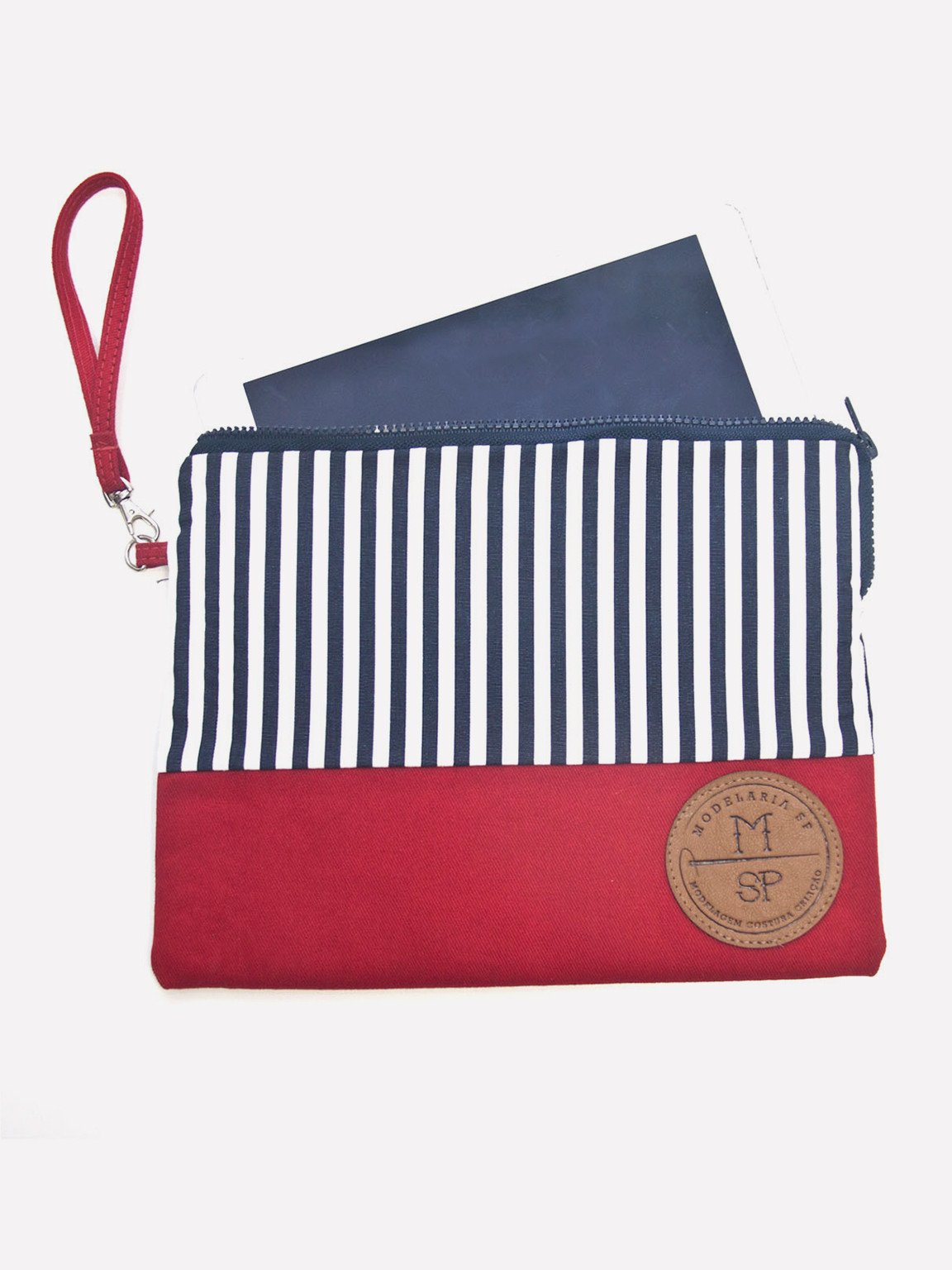 Foto do Bolsa Modelaria SP Tablet Navy-Vermelha