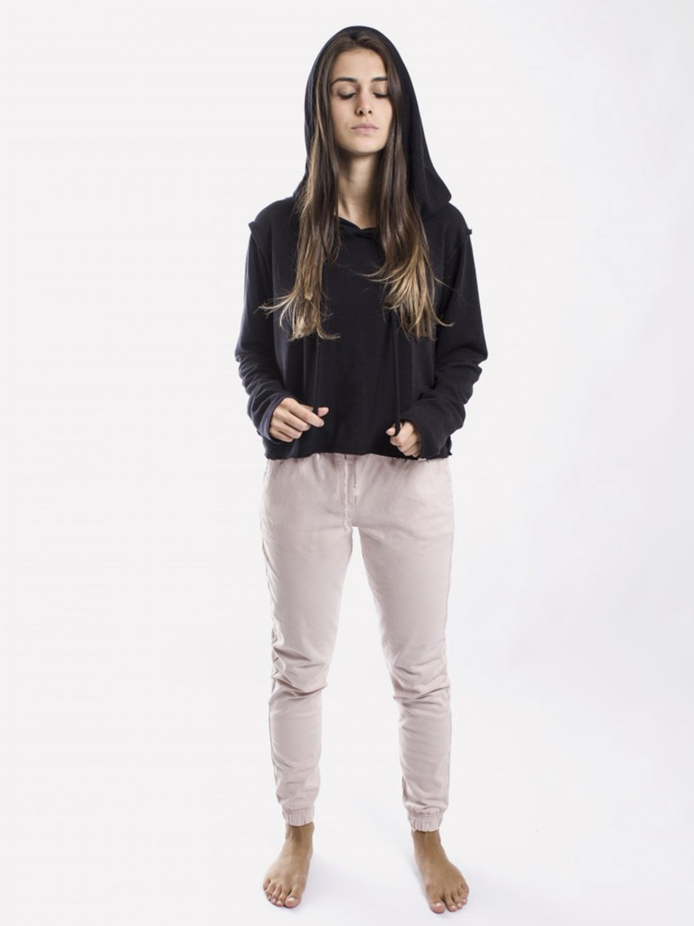Foto do Cropped Esenco Hood Black