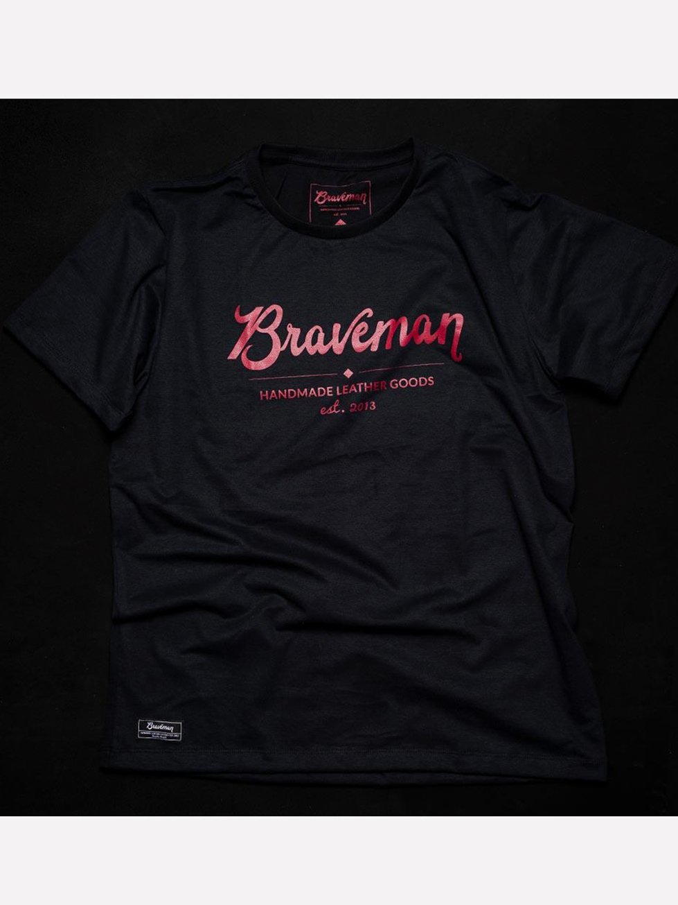 Foto do T-SHIRT Braveman BRAND BLACK BORDEAUX