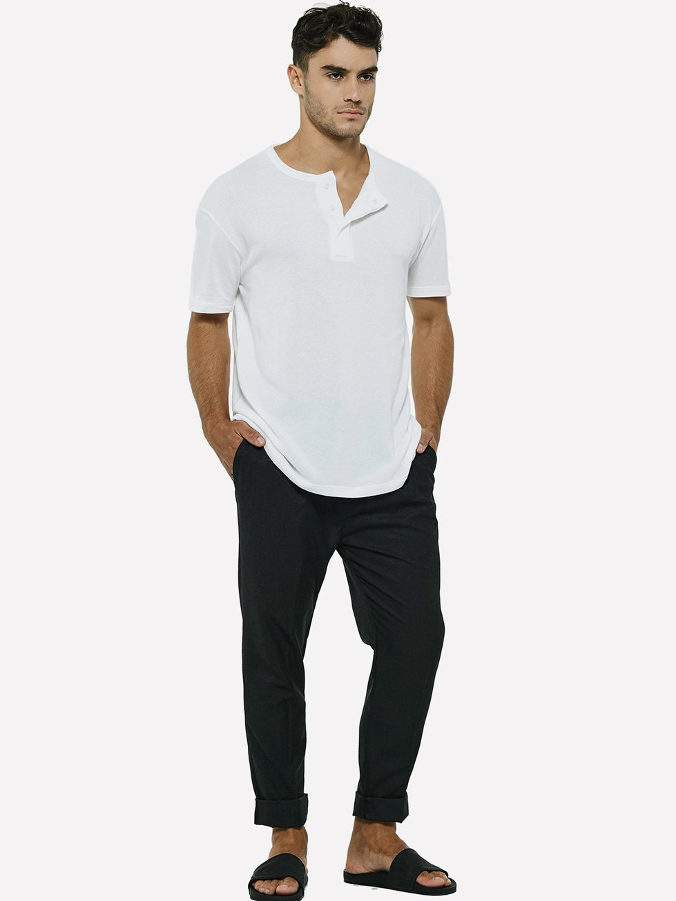 Foto do Camiseta Senplo Henley White