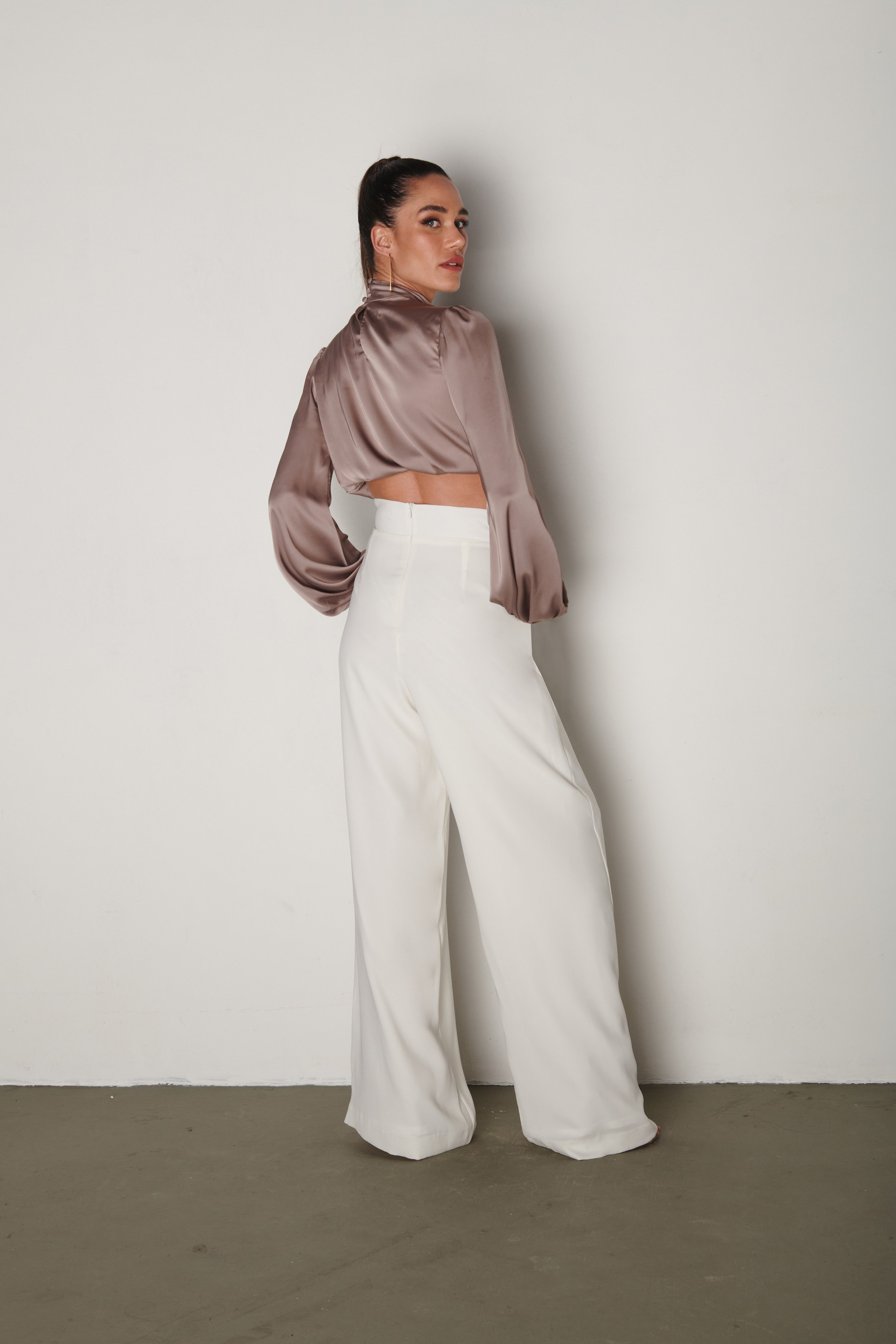 Pantalona Savoye Off-White | Savoye Wide-Pants Off-White