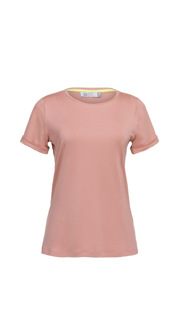 T-Shirt Gola Careca - Modal - Rosa Marrakesh