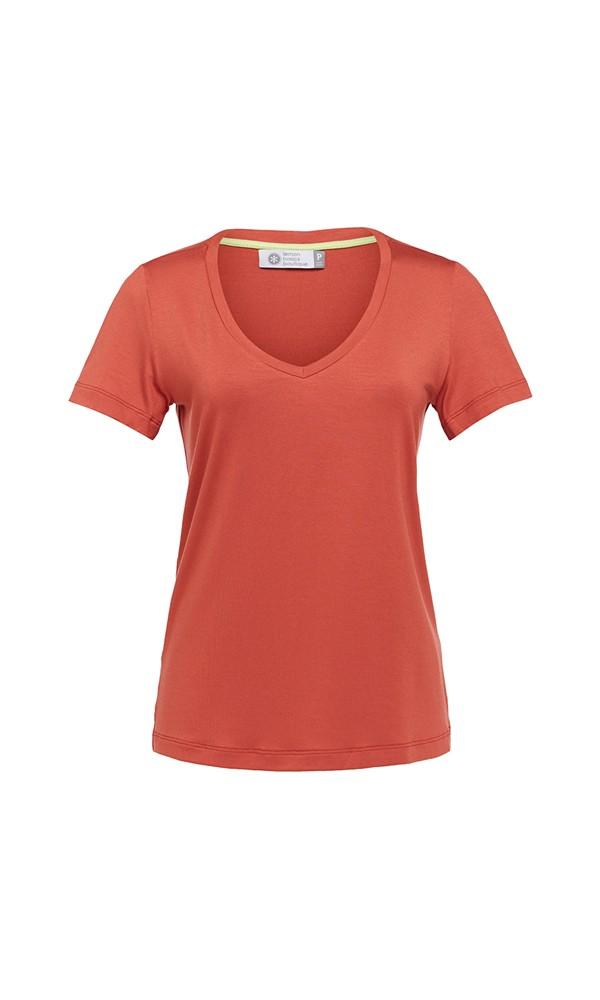 T-Shirt Gola V Modal - Ferrugem