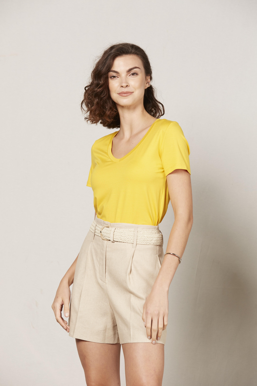 T-Shirt Gola V Modal - Amarelo Sunshine