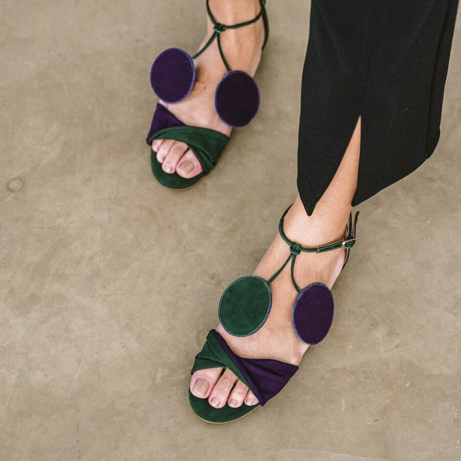 FLAT CAROL - GRAPE & GREEN