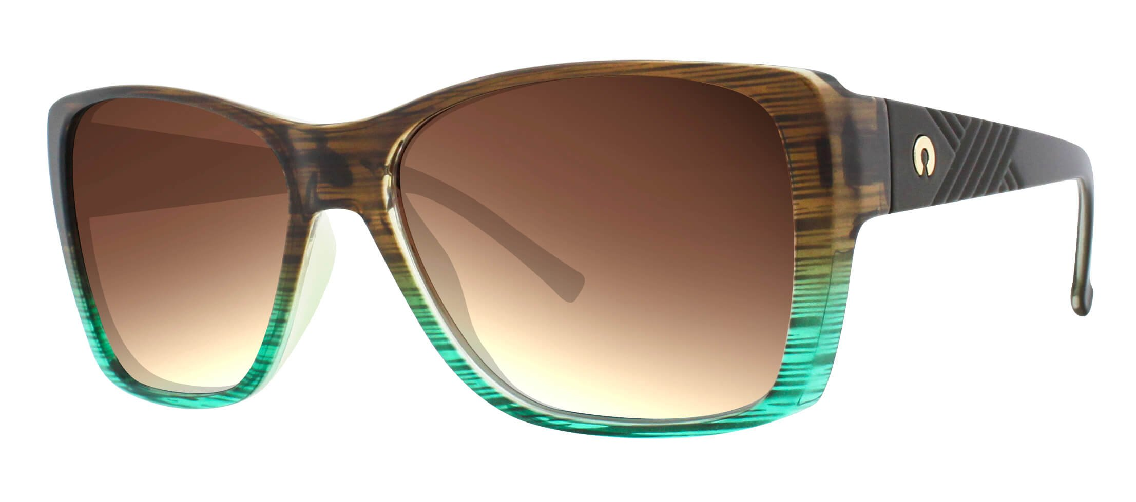 ÓC SECRET SIENNA GRA. STRIPED BROW/GREEN / POLARIZED GRADIENT BROWN