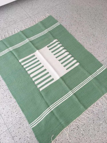 Tapete Kilim Tear Manual - Verde Vivo